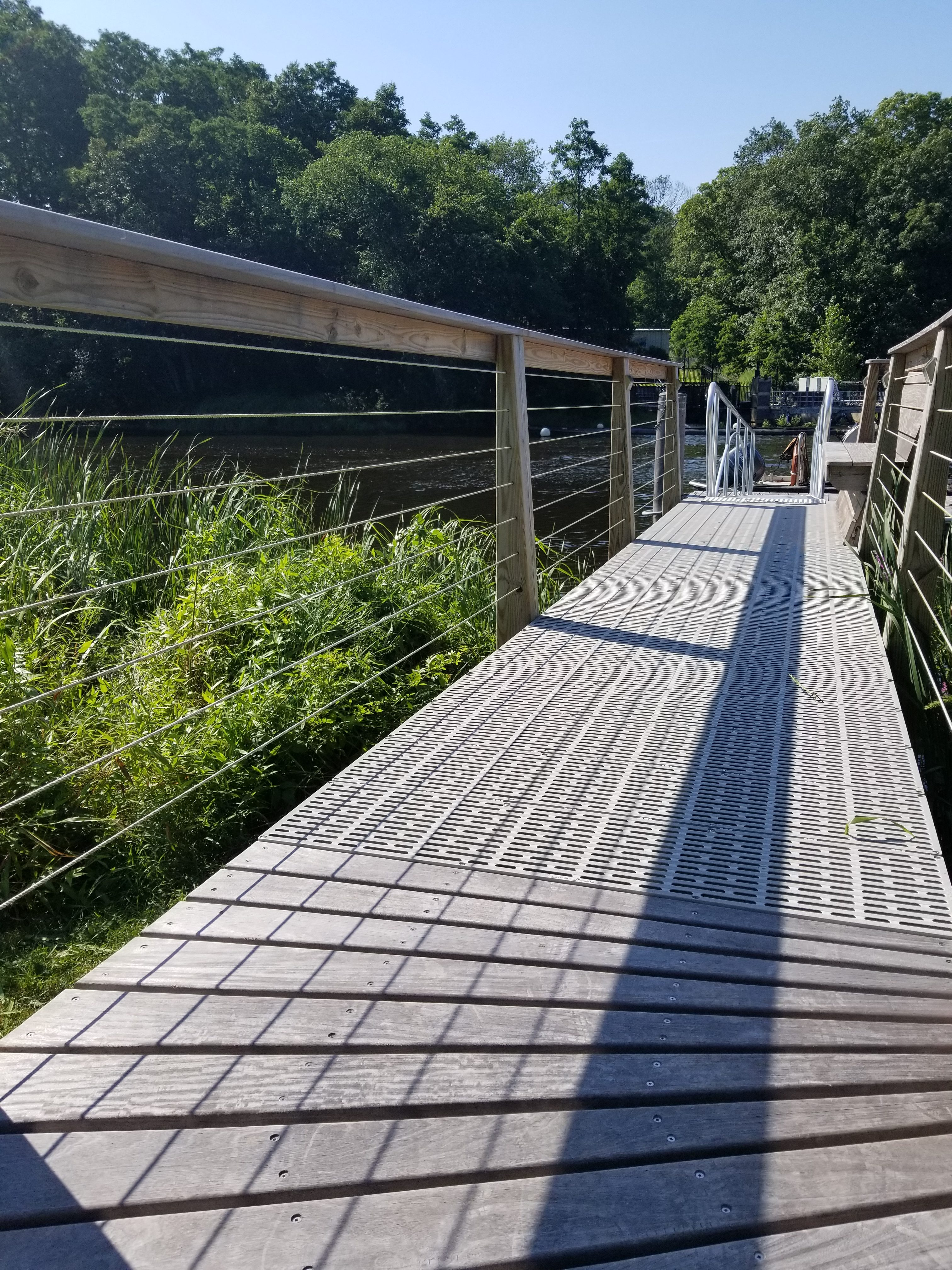 New pier installed in protected river - Berkley MA