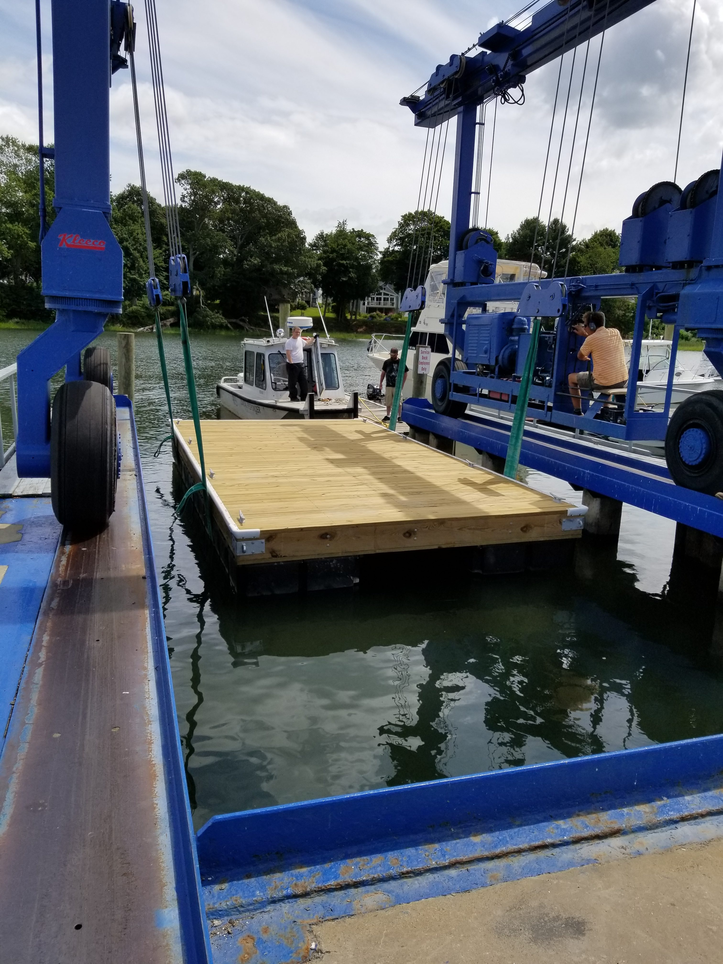 New floating dock - New Haven CT